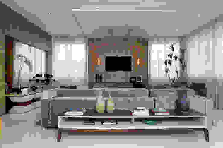 Livings de estilo moderno de Eveline Sampaio Arquiteta e Designer de Interiores Moderno Tablero DM