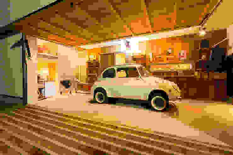 桑名の家 和風デザインの ガレージ・物置 の ダトリエ一級建築士事務所 LLC 和風