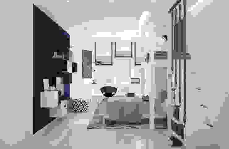Детская комната <q>blue wall</q> Modern style conservatory by СТУДИЯ 'ДА' ДАРЬИ АРХИПОВОЙ Modern Bamboo Green