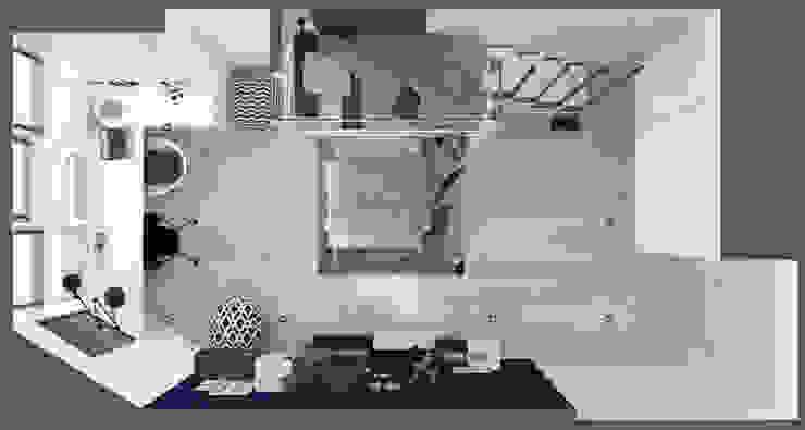 Детская комната <q>blue wall</q> Modern style bedroom by СТУДИЯ 'ДА' ДАРЬИ АРХИПОВОЙ Modern Bamboo Green