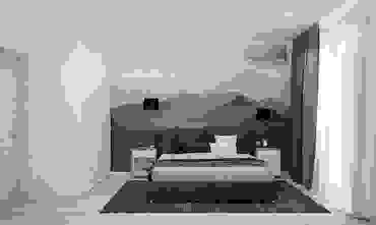 """Спальня """"Mountains"""" Modern style bathrooms by СТУДИЯ 'ДА' ДАРЬИ АРХИПОВОЙ Modern Aluminium/Zinc"""