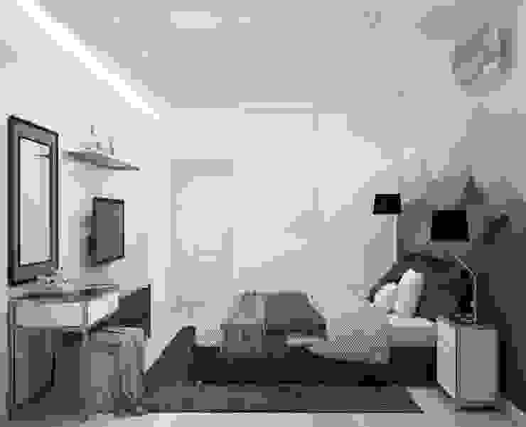 Спальня <q>Mountains</q> Modern style bathrooms by СТУДИЯ 'ДА' ДАРЬИ АРХИПОВОЙ Modern Aluminium/Zinc