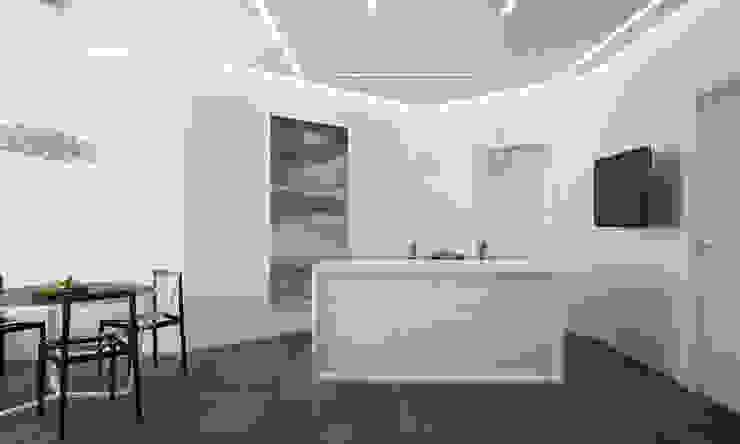Кухня <q>black and white</q> Modern style bathrooms by СТУДИЯ 'ДА' ДАРЬИ АРХИПОВОЙ Modern Aluminium/Zinc