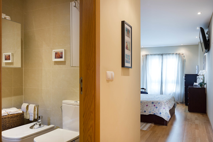 モダンスタイルの寝室 の Pedro Brás - Fotógrafo de Interiores e Arquitectura | Hotelaria | Alojamento Local | Imobiliárias モダン