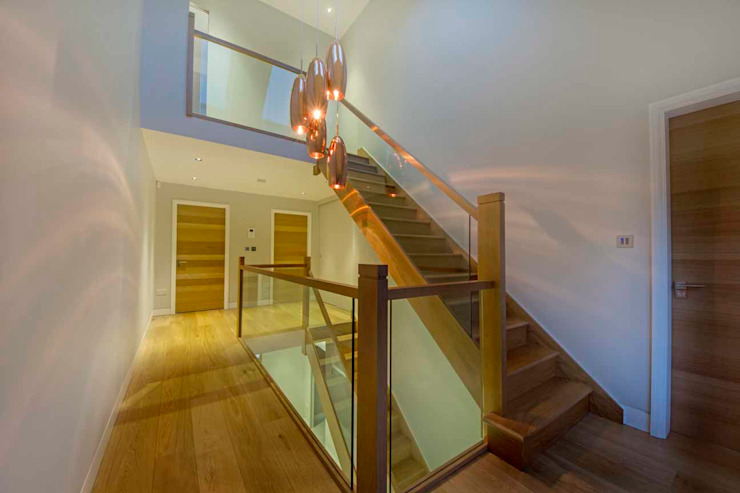Hadley Wood – North London Modern Corridor, Hallway and Staircase by New Images Architects Modern