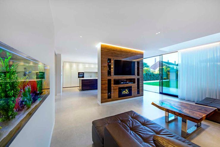 Hadley Wood – North London Modern living room by New Images Architects Modern