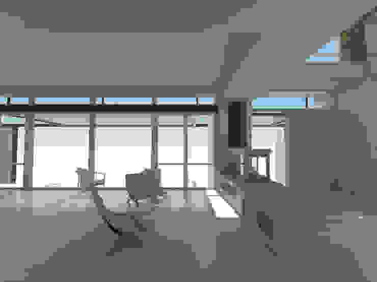 Estar / Acceso Salones mediterráneos de 1.61 Arquitectos Mediterráneo