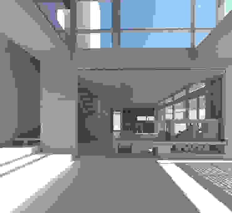 Hall de Acceso. Pasillos, vestíbulos y escaleras mediterráneos de 1.61 Arquitectos Mediterráneo