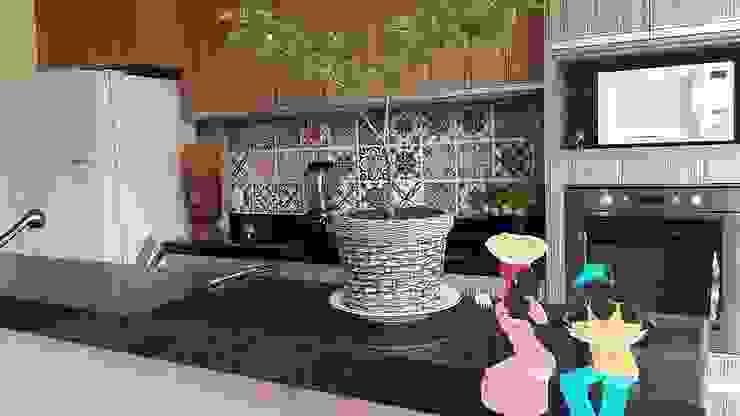 Casa integrada Cocinas tropicales de Arquiteto Lucas Lincoln Tropical Cerámico