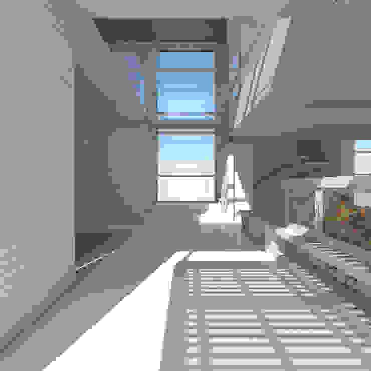 Hall de acceso Pasillos, vestíbulos y escaleras mediterráneos de 1.61 Arquitectos Mediterráneo