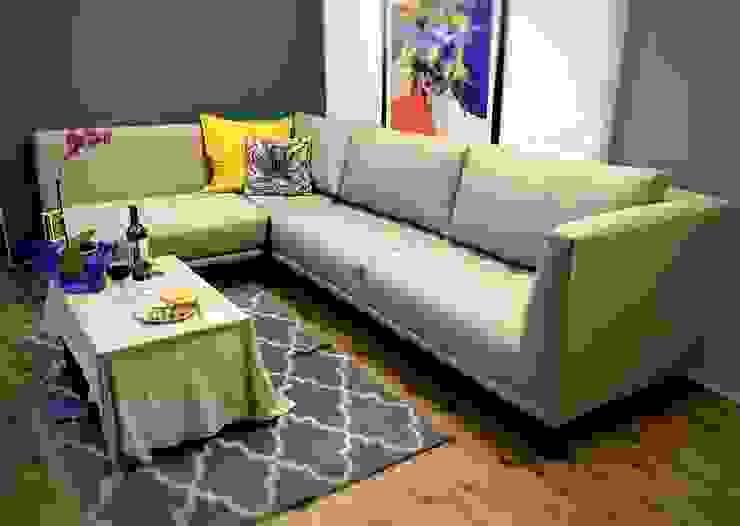 Sala entregada en el domicilio del cliente. Estilo en muebles SalasSalas y sillones Gris