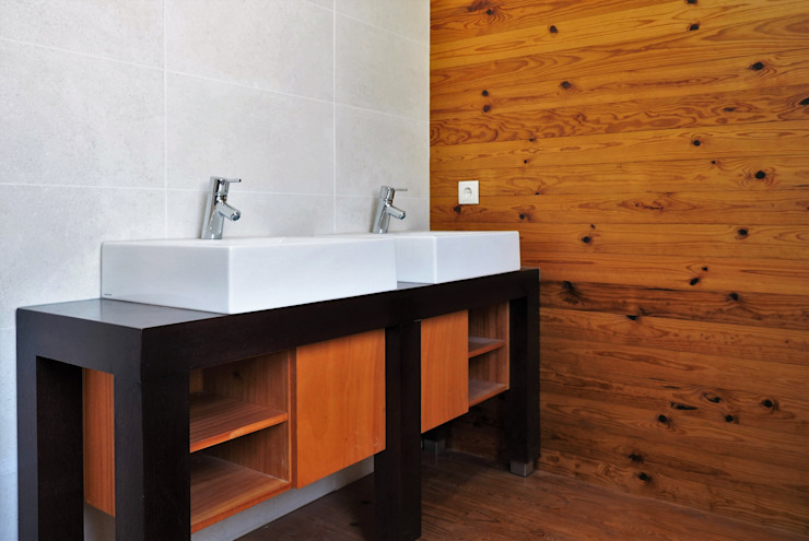 Lethes House Modern Bathroom Wood Wood effect