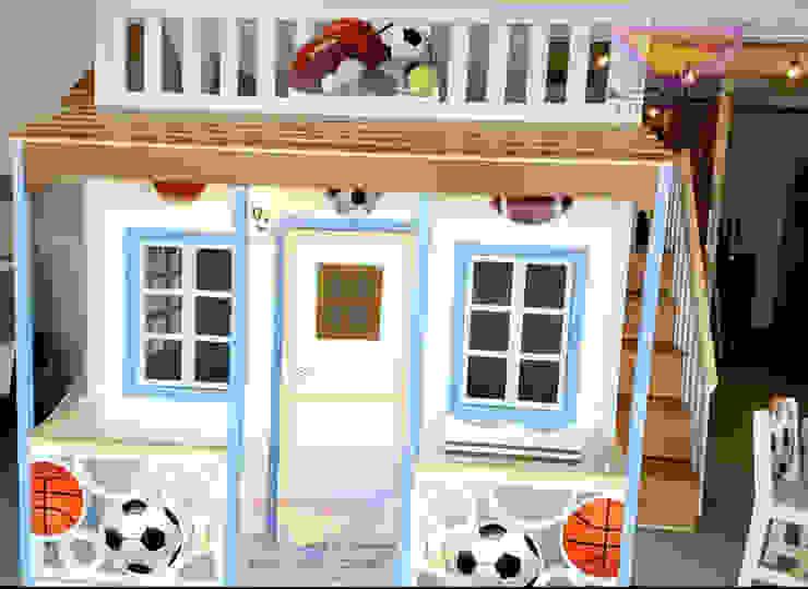 Fabulosa casita celestial de balones de Kids Wolrd- Recamaras Literas y Muebles para niños Moderno Derivados de madera Transparente