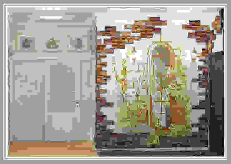 Прихожая Вид 7 Коридор, прихожая и лестница в рустикальном стиле от Рязанова Галина Рустикальный