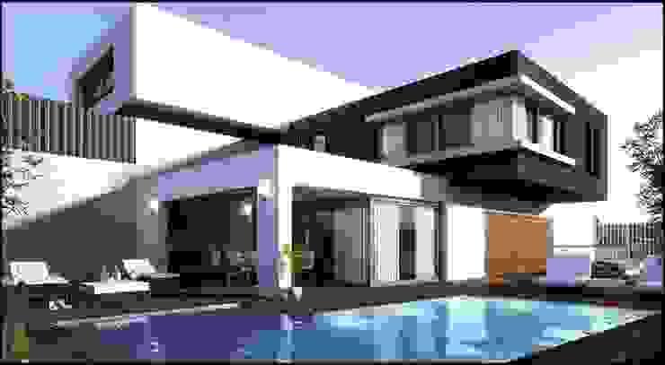 Proyecto residencia Téllez Casas modernas de Grupo Puente Arquitectos.com Moderno Concreto