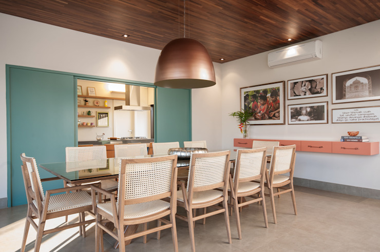 Modern Dining Room by Elisa Vasconcelos Arquitetura Interiores Modern