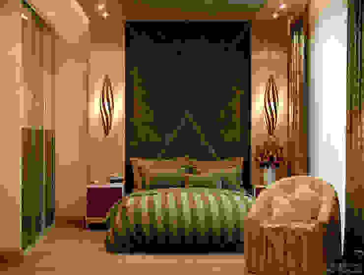 """Дизайн спальни в современном стиле в ЖК """"Каскад"""" Спальня в стиле модерн от Студия интерьерного дизайна happy.design Модерн"""