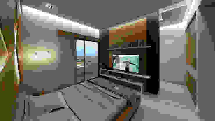 Dormitorios de estilo  por NOGARQ C.A.,