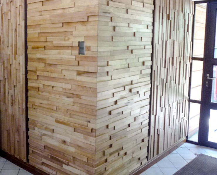 Ignisterra S.A. Rustic style walls & floors Wood Wood effect