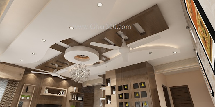 Living room ceiling: modern  by Ghar360,Modern