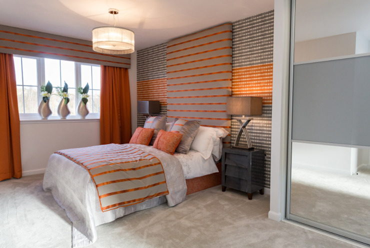 Warming Orange Classic style bedroom by Graeme Fuller Design Ltd Classic