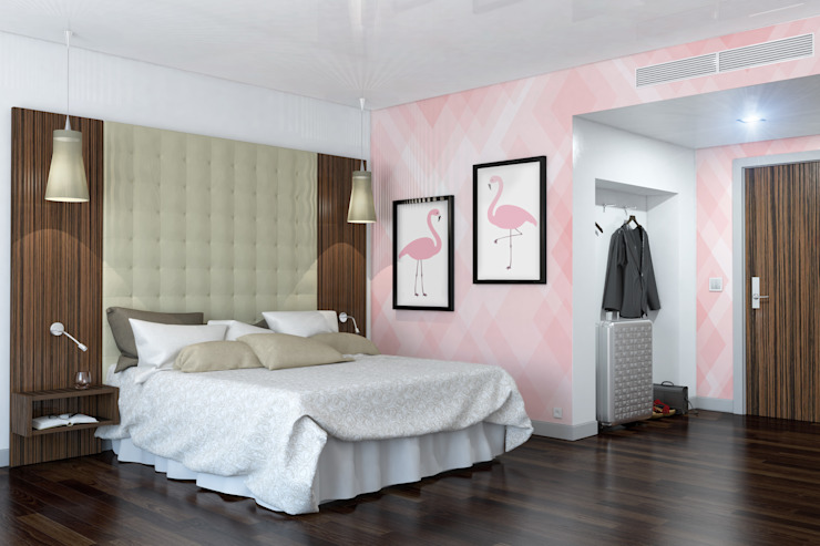 Flamingo Modern style bedroom by Pixers Modern
