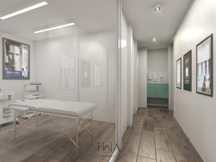 Clínica de Medicina Estética Clínicas y consultorios médicos de estilo escandinavo de TW/A Architectural Group Escandinavo