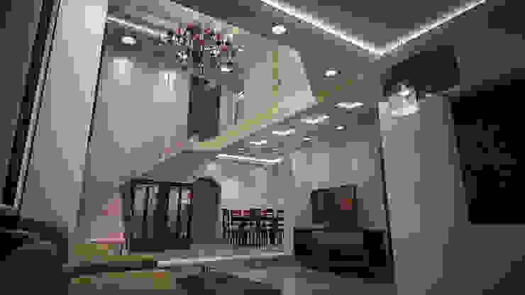 ห้องโถงทางเดินและบันไดสมัยใหม่ โดย Reda Essam โมเดิร์น