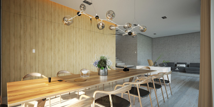 Modern dining room by TW/A Architectural Group Modern