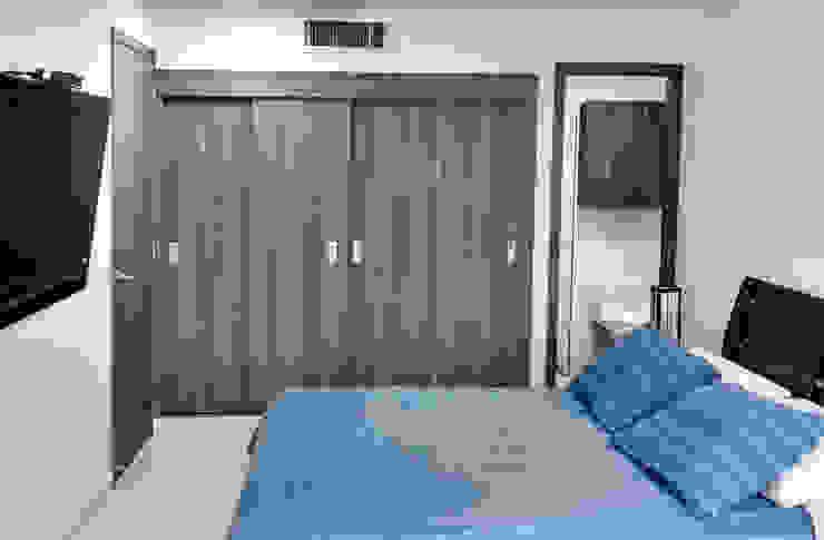 Alcoba principal Habitaciones modernas de Remodelar Proyectos Integrales Moderno Tablero DM