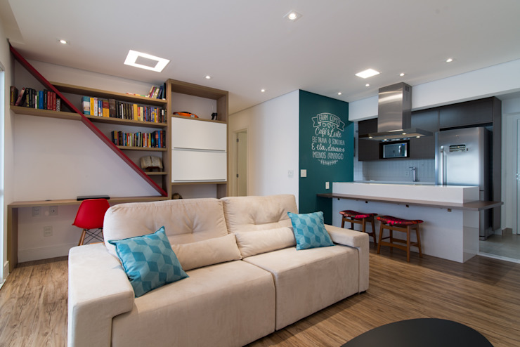 Modern living room by Moussi Arquitetura Modern