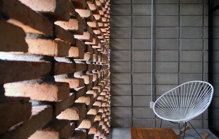 Corporativo INNOVA Balkon, Beranda & Teras Gaya Kolonial Oleh Apaloosa Estudio de Arquitectura y Diseño Kolonial
