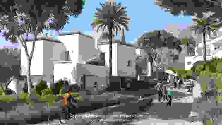 Vista Calle Peatonal Carril Bici LEMApaisajes Casas de estilo mediterráneo