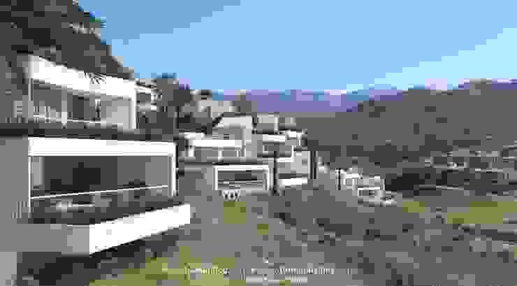 Vista Integración LEMApaisajes Casas de estilo mediterráneo
