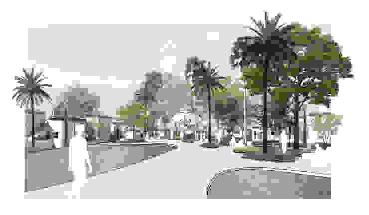 Jardín y Piscina Comunitaria LEMApaisajes Piscinas de estilo mediterráneo