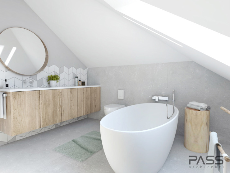 Scandinavian style bathrooms by PASS architekci Scandinavian