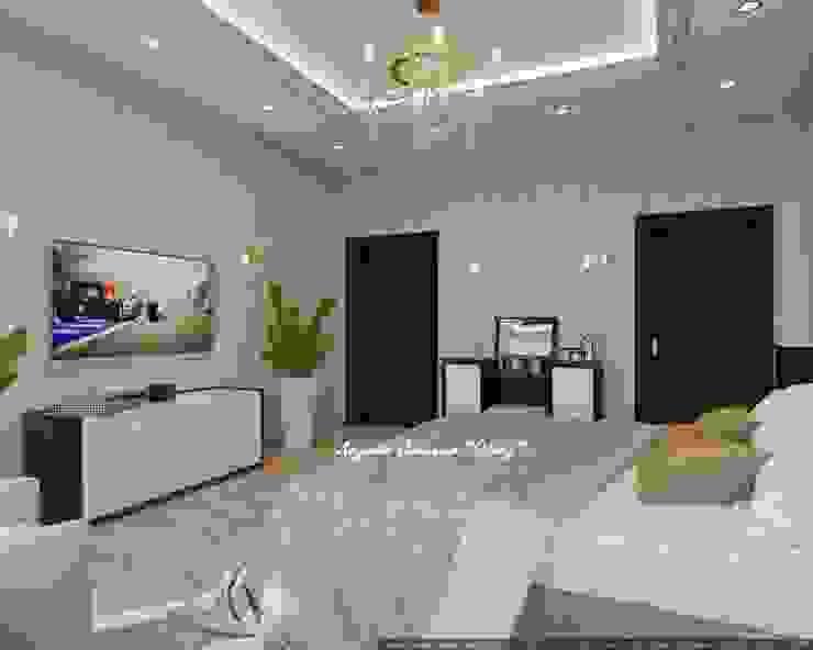 Элегантная спальня в светлых тонах Спальня в эклектичном стиле от Дизайн Студия 'Образ' Эклектичный