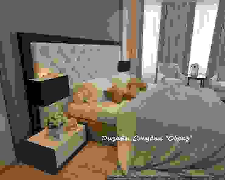 Элегантная спальня в светлых тонах:  в современный. Автор – Дизайн Студия 'Образ', Модерн