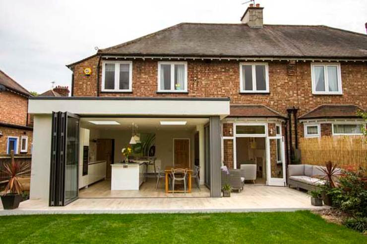 Kitchen Extension – Strawberry Hill, Twickenham Cube Lofts Dapur Modern