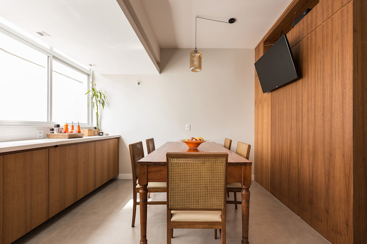 Ruang Makan Gaya Skandinavia Oleh Kali Arquitetura Skandinavia