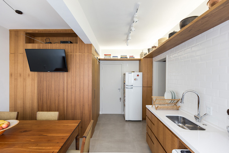 Dapur Gaya Skandinavia Oleh Kali Arquitetura Skandinavia