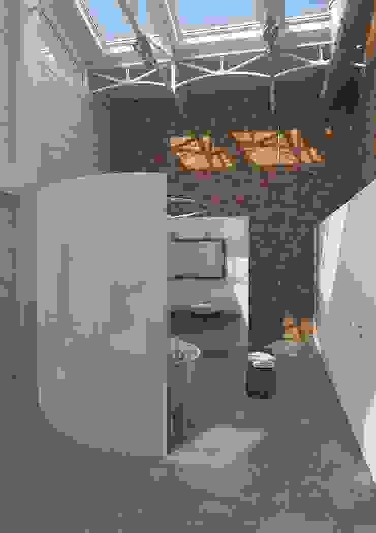 Stijlvolle ideeën met tegels voor de gehele woning Industriële badkamers van Sani-bouw Industrieel Tegels