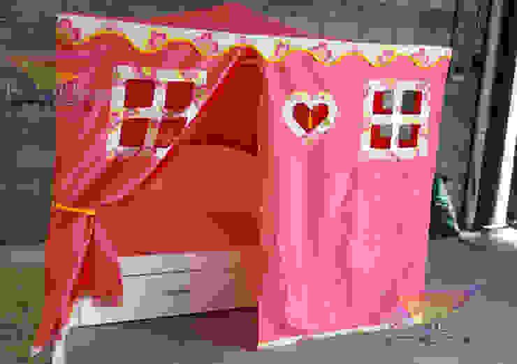 cama nido con casita de tela de camas y literas infantiles kids world Moderno Derivados de madera Transparente
