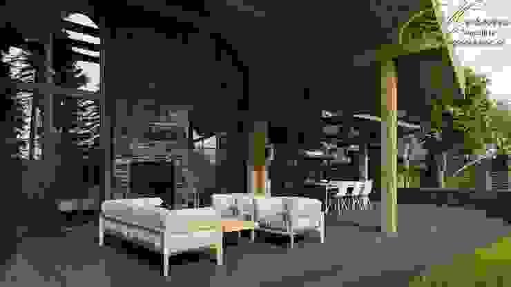 Дом на Сиреневом бульваре Дома в стиле кантри от Компания архитекторов Латышевых 'Мечты сбываются' Кантри Дерево Эффект древесины
