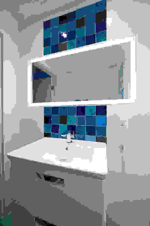 Dekory Nati Mediterranean style bathrooms Ceramic Blue