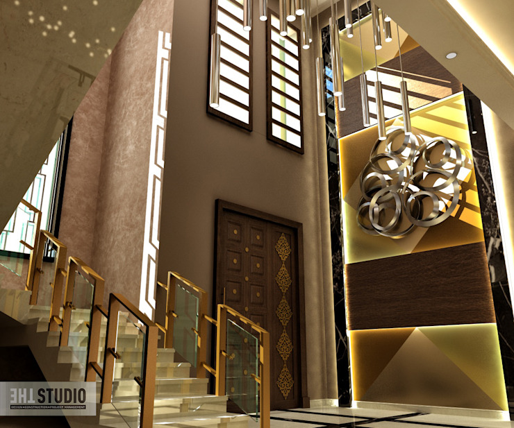 Lake View-Cairo homify Modern Corridor, Hallway and Staircase