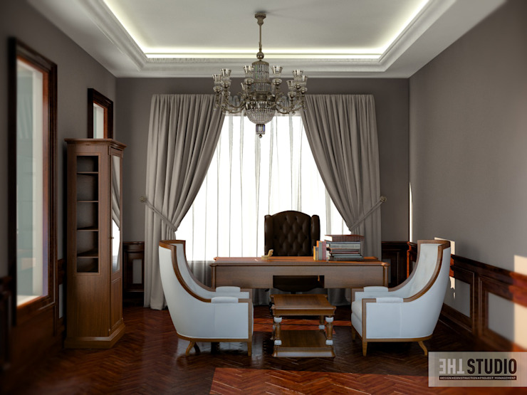 Lake View-Cairo homify Modern Study Room and Home Office