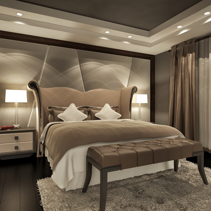 Al Rehab hills villa-Cairo Modern style bedroom by homify Modern