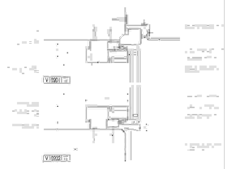 Carpintería en Piel de Vidrio - Detalle en corte de mm ARQUITECTOS