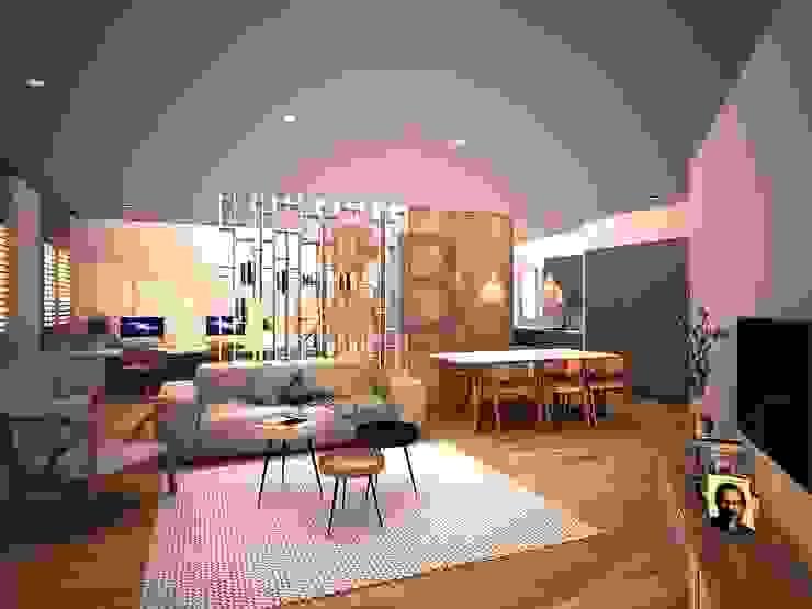 Renders. 3D. 3Dimage. Sala de estar. Apartment. Living room. de Brick Serveis d'Interiorisme S.L.